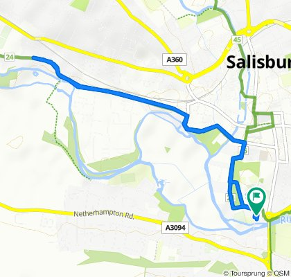 St. Nicholas Hospital, 5 Saint Nicholas' Road, Salisbury to St. Nicholas Hospital, 5 Saint Nicholas' Road, Salisbury