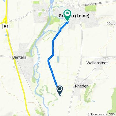 Route nach Breite Straße 7–9, Gronau