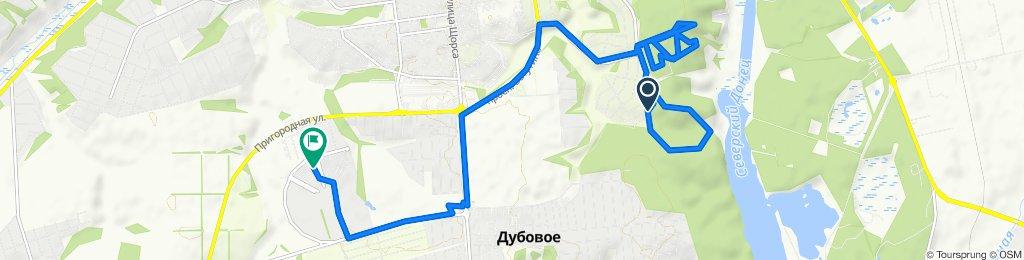 От улица 5-й Сургутский переулок 27, Белгород до Счастливая улица 3