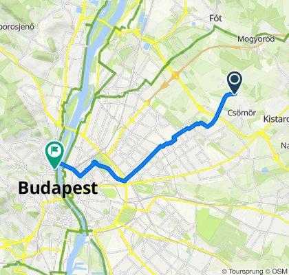 Laki utca 1, Csömör to Ganz utca 6, Budapest