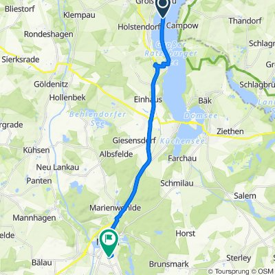 Ratzeburg nach Lange Straße 70, Mölln
