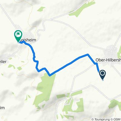 Route nach Am Sonnenberg 17, Aspisheim