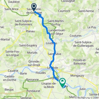 De 14 Place de la République, Sauveterre-de-Guyenne à 4ter Candeley, Hure