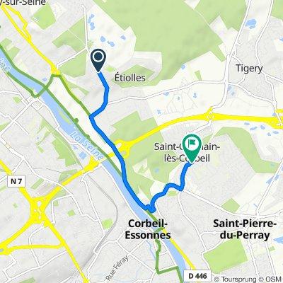 De Allée Charles le Normand 14, Étiolles à Rue Paul Valéry 4, Saint-Germain-lès-Corbeil