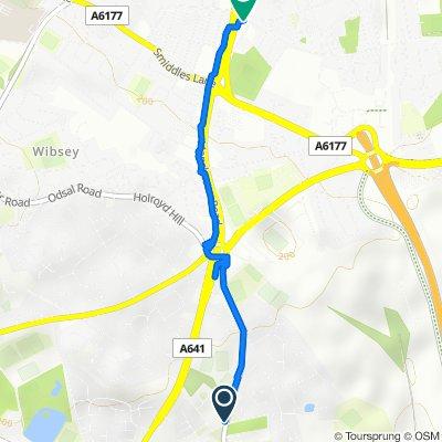 Cleckheaton Road, Bradford to Parkside Road, Bradford