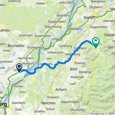 Rue de la Gravière 12, Gambsheim to BAD Augustapl. / Museum Burda, Baden-Baden