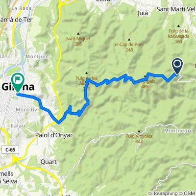 De GIV-6703, Madremanya a Calle de la Creu, 38-36, Girona