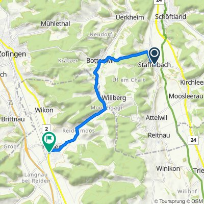 Bühl 2, Staffelbach nach Hauptstrasse 18A, Reiden