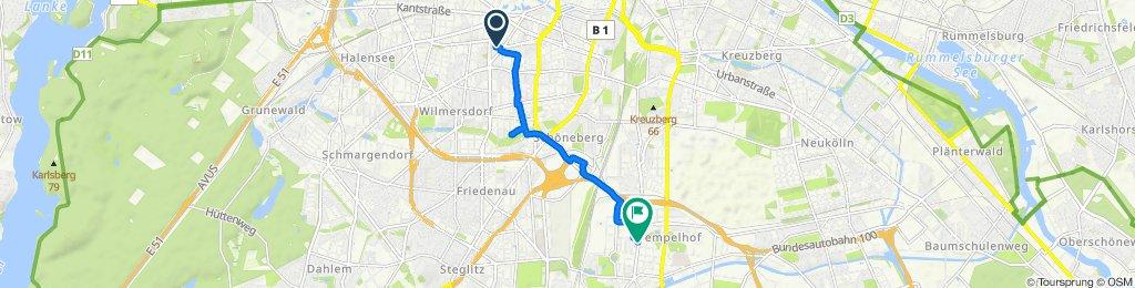 Schaperstraße 5, Berlin to Manteuffelstraße 14A, Berlin