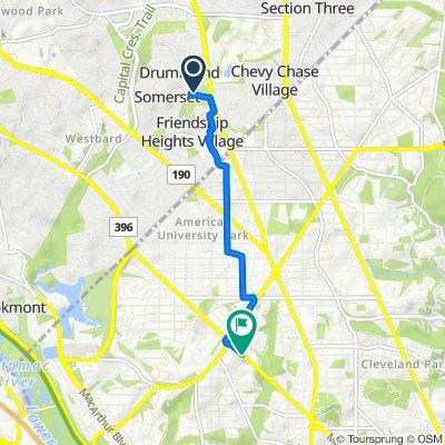 4525 Dorset Ave, Somerset to 4284 Massachusetts Ave NW, Washington