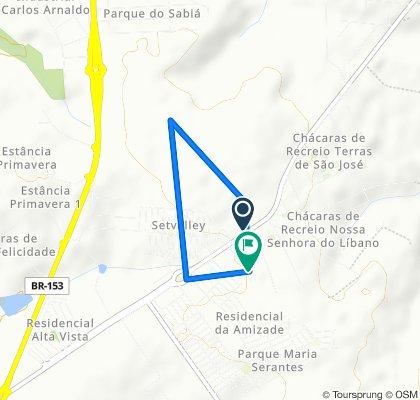 Rota desde Estrada Vicinal Alcides Augusto Ávila, 2421–2621, São José do Rio Preto