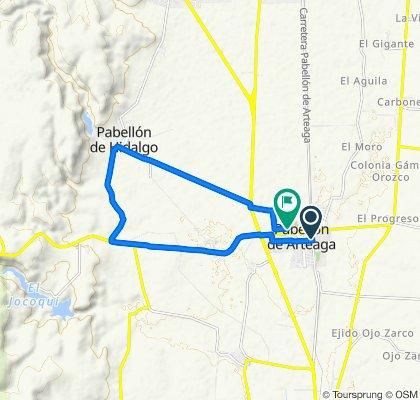 De 16 de Septiembre 33A, Pabellón de Arteaga a Cesáreo Ruiz Reyes 203A, Pabellón de Arteaga