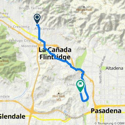 5350–5398 Jessen Dr, La Cañada Flintridge to 798–998 West Dr, Pasadena
