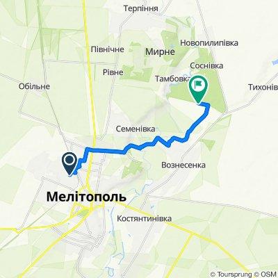 От 2-й Февральський провулок 30А, Мелітополь до Unnamed Road