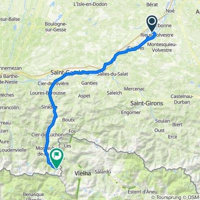 De 8 Chemin du Bac de Salles, Rieux-Volvestre à D125, Bagnères-de-Luchon