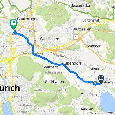 Greifenseestrasse 11C, Schwerzenbach nach Glatttalstrasse 11, Zürich