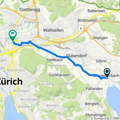 Greifenseestrasse 11C, Schwerzenbach nach Gubelstrasse 9, Zürich