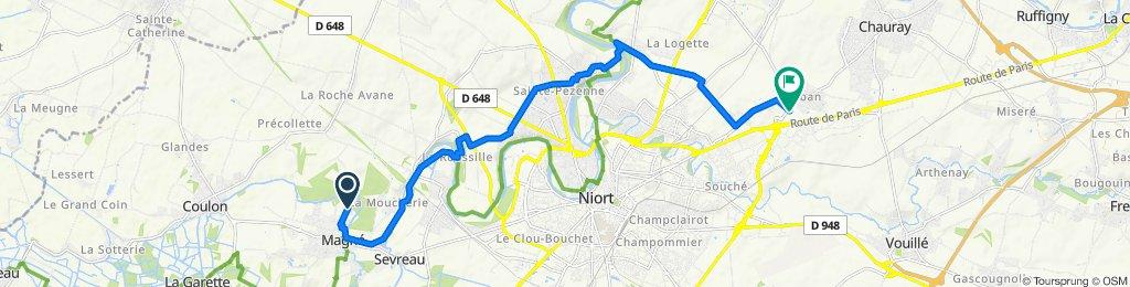 De 84–86 Route de Jousson, Magné à 4–8 Impasse Saint-Nicolas, Chauray