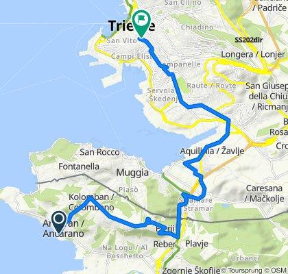 Jadranska cesta, Koper nach Piazza del Sansovino 5/E, Trieste