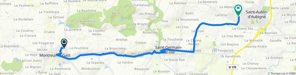 De 20 Impasse Pablo Picasso, Montreuil-le-Gast à 4000 Route du Chêne Sec, Saint-Aubin-d'Aubigné