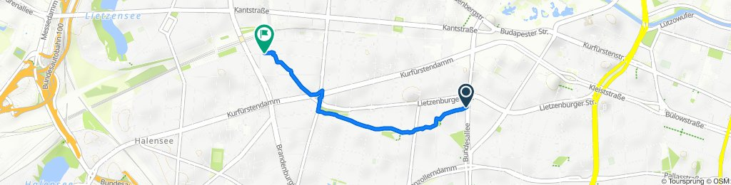 Joachimsthaler Straße, Berlin to Mommsenstraße 32, Berlin