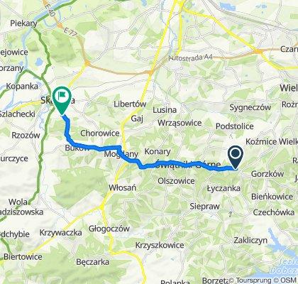 Galicyjska 73, Owiątniki Górne do Bukowska 26A, Skawina