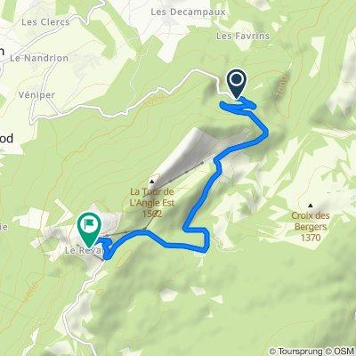 route forestiere, montcel