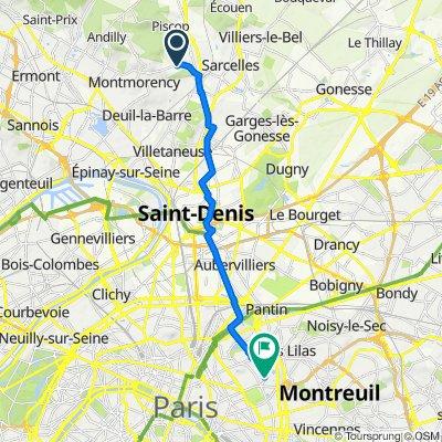 De Avenue de la Division Leclerc, Saint-Brice-sous-Forêt à 116–120 Rue Orfila, Paris