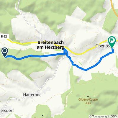 Zum Herzberg, Breitenbach am Herzberg nach Bahnhofstraße 7, Breitenbach am Herzberg