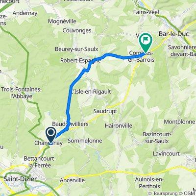 De Chemin des Barnees 3, Chancenay à Gr Grande Rue 1, Combles-en-Barrois