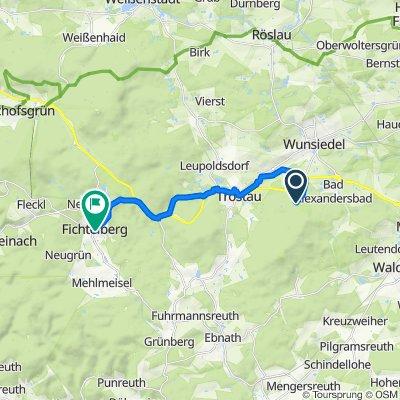 Luisenburg 2A, Wunsiedel nach Hasenbergstraße 4–12, Fichtelberg
