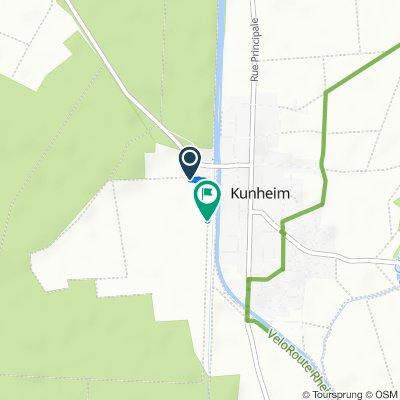 Route von 9 Rue des Alouettes, Kunheim