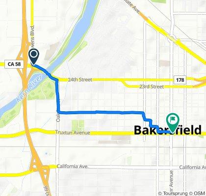 3270–3278 Riverside Dr, Bakersfield to 1440 Truxtun Ave, Bakersfield