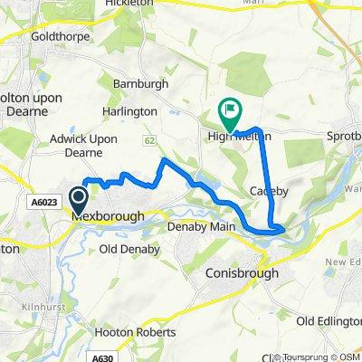 16 Hartley Street, Mexborough to Rose Cottage, Hangman Stone Lane, Doncaster