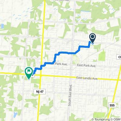 623 E Oak Rd, Vineland to 1255 W Landis Ave, Vineland