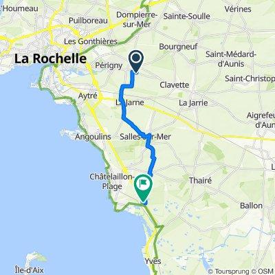De 33 Rue de La Rochelle, Saint-Rogatien à D203, Yves