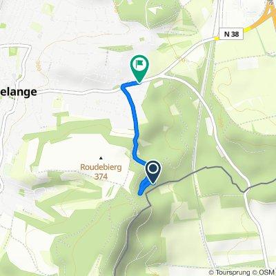 Route naar Route de Zoufftgen, Dudelange