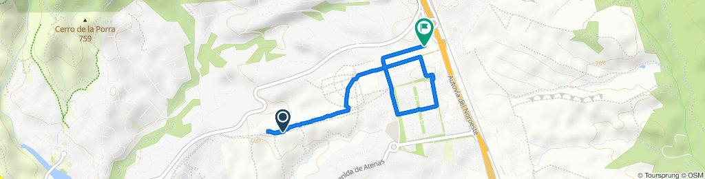 Ruta a Calle del Perú, 13–15, Las Rozas de Madrid