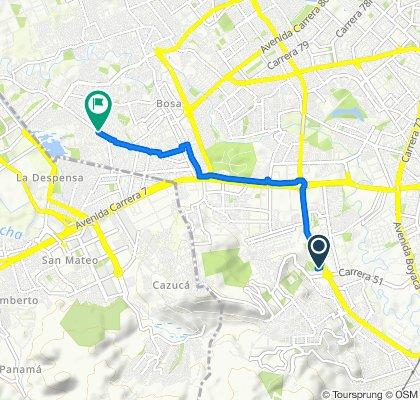 Ruta desde Bogotá