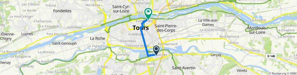 De Avenue Mozart 286, Tours à Rue du Petit Cupidon 4, Tours