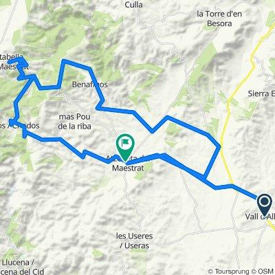 Vall d'alba - Atzeneta - Benafigos - Vistabella - Xodos - Vall d'Alba