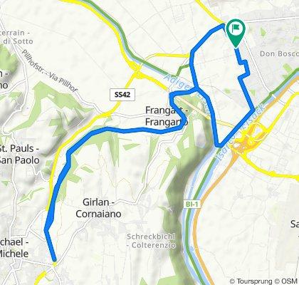 Da Via Don Narciso Sordo 18–30, Bolzano a Viale Wolfgang Amadeus Mozart 29, Bolzano