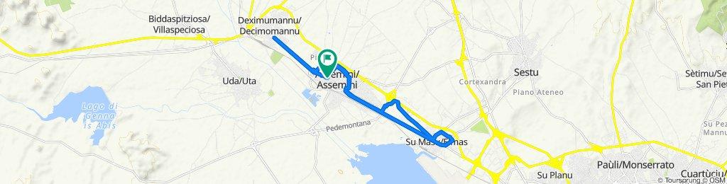 Da Via Cagliari 195/A, Assemini a Via Cagliari 193, Assemini