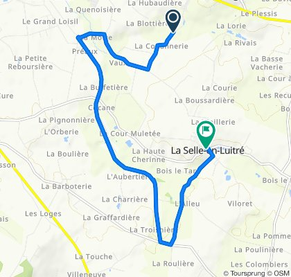 Itinéraire vers Haut Bourg, La Selle-en-Luitré