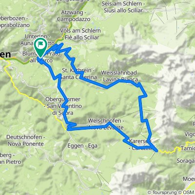 2015-07-26 Blumau-Tiers-Nigerpass-Karerpass-Welschellen-Blumau