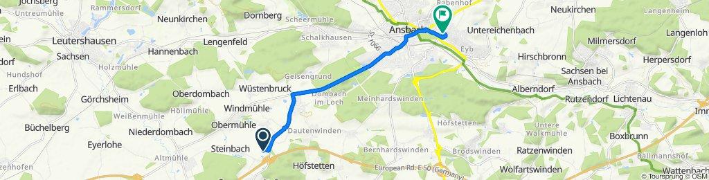 Horst-Brandstätter-Straße 1, Herrieden nach Ringstraße 26, Ansbach