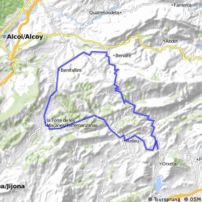 (1.360m) Orxeta-Relleu-Torremanzanas-Benifallim-P.de Tudons-Sella-Orxeta