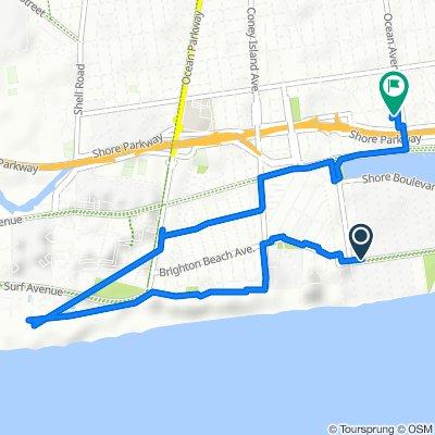 196 Amherst St, New York to 3090 Ocean Ave, New York