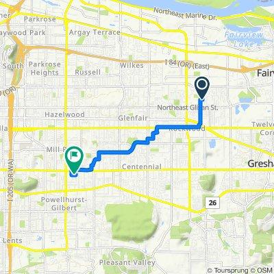 18835 NE Pacific St, Gresham to 2645 SE 127th Ave, Portland