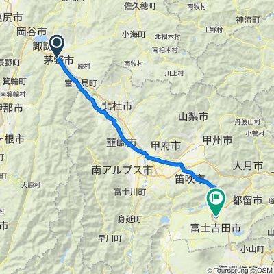 Chinomachi to Fujiyoshida pass